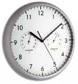 Ceas perete cu termo higrometru S98.1072