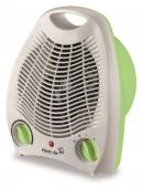 Aeroterma electrica TV EC alb cu verde, 2 trepte 1000-2000W, ventilatie si incalzire